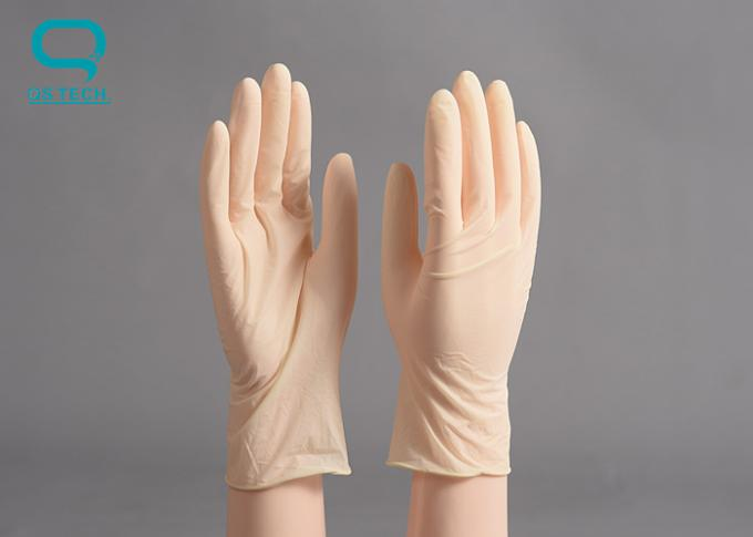 Disposable Cleanroom Gloves Latex Material Stretchable Type For Single Use Only