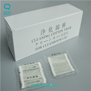 Dust Free Cotton Cleaning Swabs With Excellent Chemical Compatibility