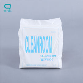 55% Microfiber 45% Polyester Camera Lens Wipe Cleanroom Wiper 52g/M2 Weight