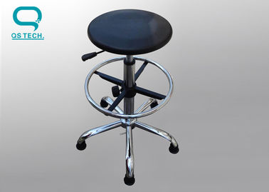 China PU Leather Adjustable Cleanroom Esd Chairs 430*400mm Size With Foot Rest supplier