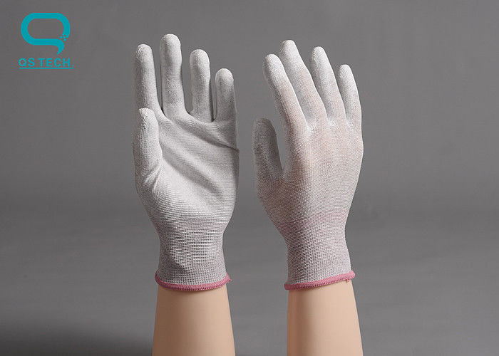 Breathable Palm Coated Gloves , ESD Disposable Gloves With Great Flexibility