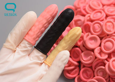 Comfortable Rubber Finger Covers , Sterile Finger Cots