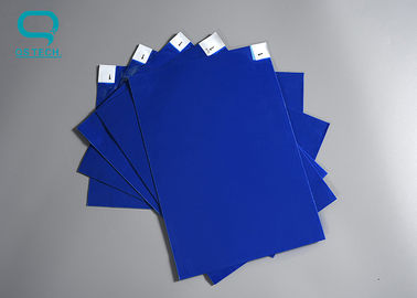 China Industrial Cleanroom Sticky Mats polyethylene film Blue 32 pcs / Sheets factory
